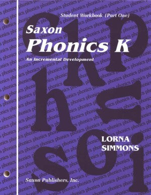 Saxon Phonics K Student Wrkbk/Readers First Edition