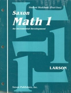 Saxon Math 1 Student Wrkbks/Fact Cards First Edition