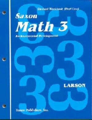 Saxon Math 3 Student Wrkbks/Fact Cards First Edition