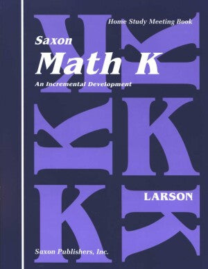Saxon Math K Home Study Kit First Edition