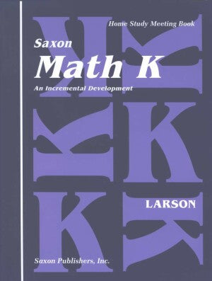 Saxon Math K Meeting Book First Edition