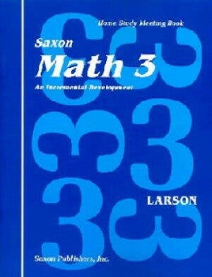 Saxon Math 3 Meeting Book First Edition