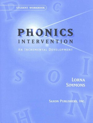 Saxon Phonics Intervention Student Workbook
