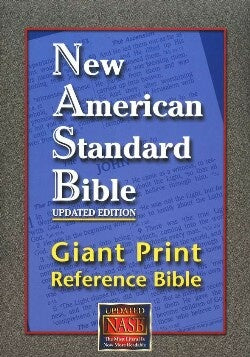 NASB Giant Print Reference Bible-Burgundy Leathertex