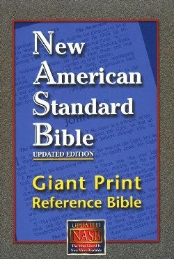 NASB Giant Print Reference Bible-Burgundy Leathertex Indexed