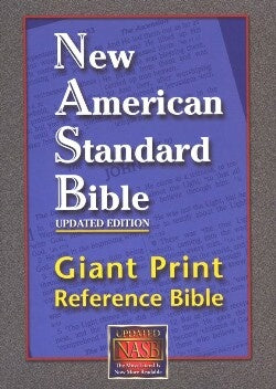 NASB Giant Print Reference Bible-Black Leathertex Indexed