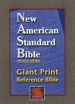 NASB Giant Print Reference Bible-Black Genuine Leather
