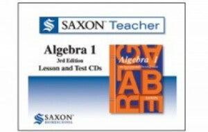 Saxon Homeschool Algebra 1 3rd Edition Teacher Lesson and Test CDs