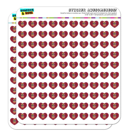 "No Friends Only Servants The Swan Princess Frog Jean-Bob 1/2"" (0.5"") Heart Shaped Planner Calendar Scrapbook Craft Opaque Stickers"