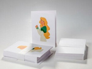 Swan Princess Birthday Card
