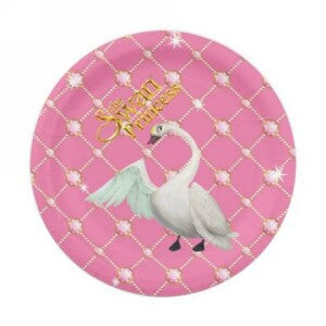 Swan Princess Paper Party Plate