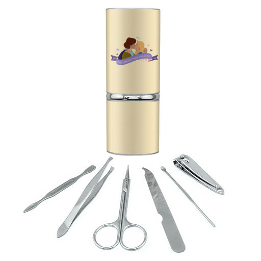 Far Longer than Forever The Swan Princess Kiss Stainless Steel Manicure Pedicure Grooming Beauty Care Travel Kit