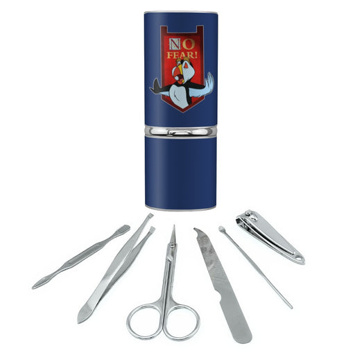 No Fear The Swan Princess Puffin Stainless Steel Manicure Pedicure Grooming Beauty Care Travel Kit