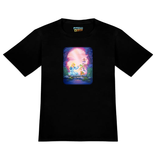 The Swan Princess Odette Jean-Bob Frog Puffin Speed Turtle Novelty T-Shirt - Black - Men's X-Large