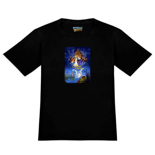 The Swan Princess Movie Poster Art Novelty T-Shirt - Black - Men's X-Large