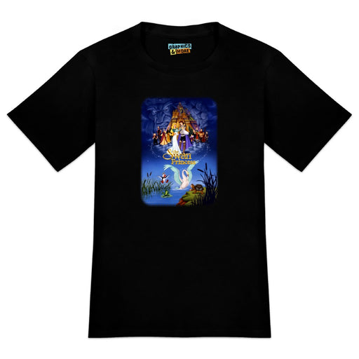 The Swan Princess Movie Poster Art Novelty T-Shirt - Black- Men's Small