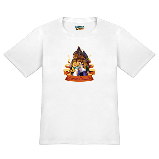 Cutest Couple The Swan Princess Odette Prince Derek Novelty T-Shirt - White - Men's Large