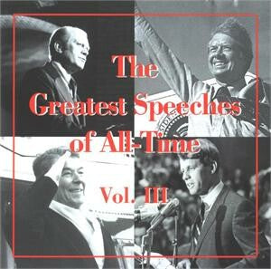 Greatest Speeches Of All Time Vol. III CD
