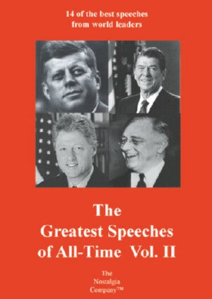 Greatest Speeches Of All Time Vol II DVD