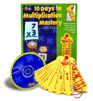 Learning Wrap Ups Multiplication Mastery Kit W/ CD
