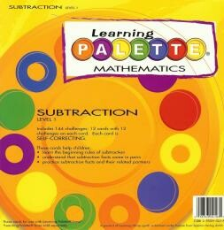 Learning Wrap Ups Palette Subtraction Level 1 Cards