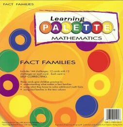 Learning Wrap Ups Palette Fact Families Level 1 Cards