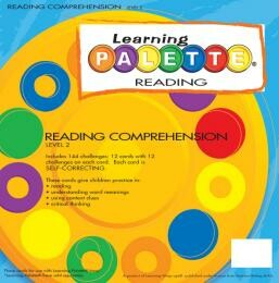 2nd Grade Reading Learning Wrap Ups Palette