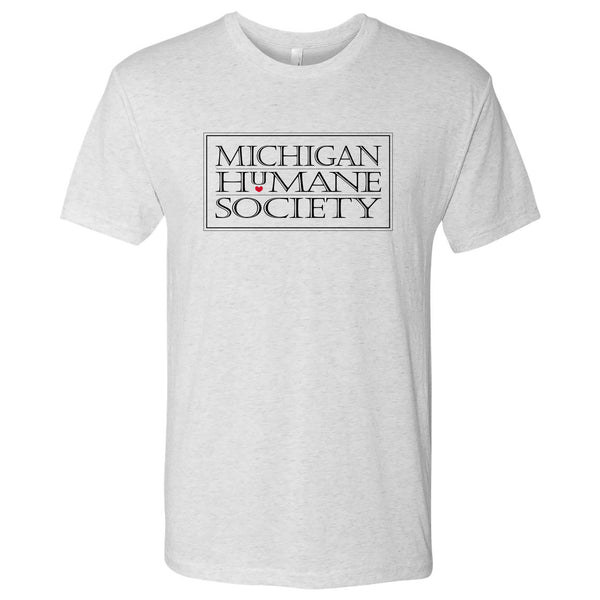 MHS Logo Triblend Shirt - Heather White