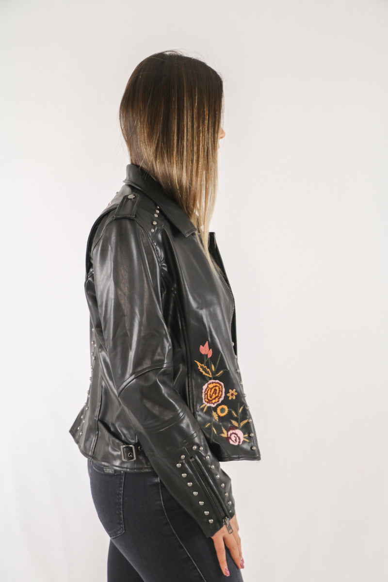Fifth Avenue Floral Leather Jacket