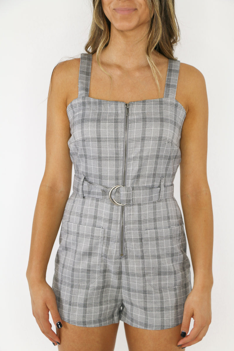 Playful Plaid Romper