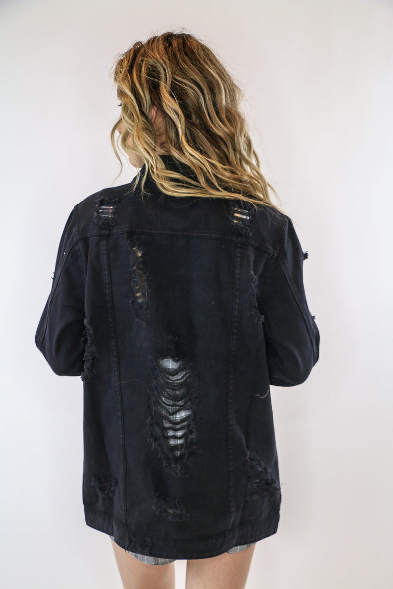 Melrose Distressed Denim Jacket
