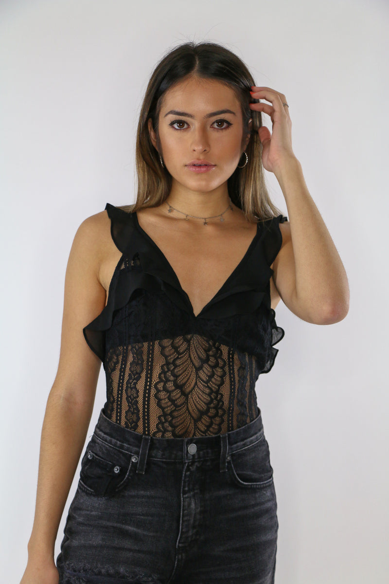 First Date Lace Bodysuit