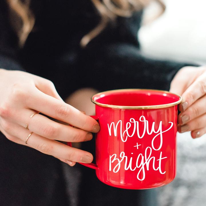 MERRY AND BRIGHT CAMPFIRE MUG