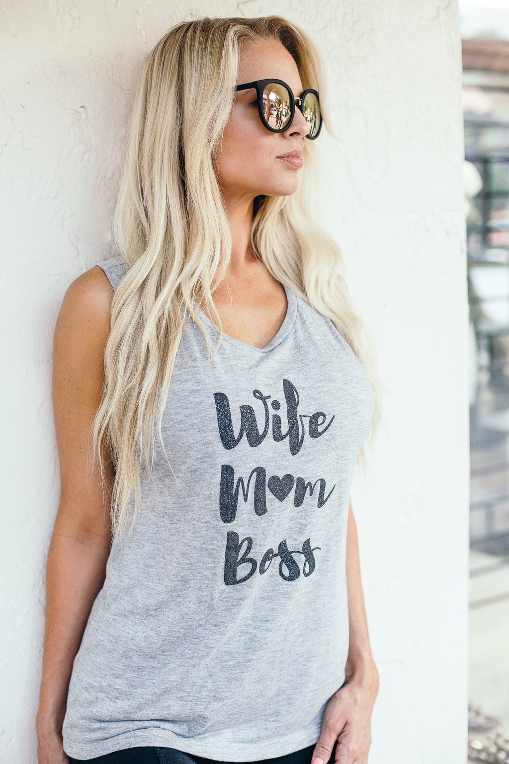 Wife Mom Boss Tank