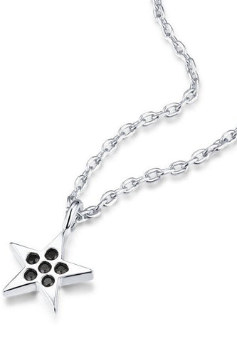 angel baby star necklace - sterling silver 925