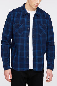 Edwin - Cell Shirt - indigo