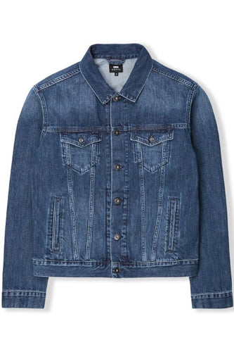 high road jacket - mid stone wash