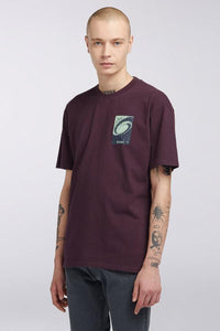 Flying Saucers T-Shirt - Plum