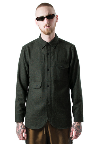 army shirt - olive tweed
