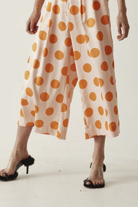 Gary Bigeni - Brons Pant - Orange Polka Dots