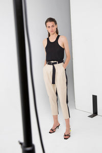 THIRD FORM 2 Tone Linen Trouser - buy Online at LONELIE STORE