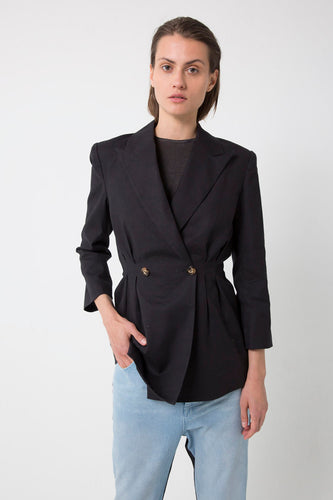 THIRD FORM Tuck In Linen Blazer - buy Online at LONELIE STORE