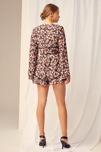 Keepsake - One Love Playsuit - black rose floral