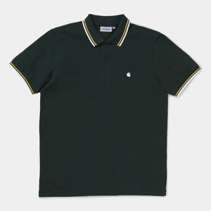 Venice Polo - Loden/ Quince/ White by Carhartt WIP - LONELIE STORE