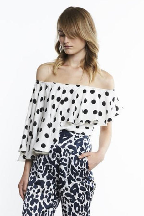kang top - black/ white polka dots