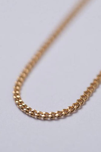 simple link chain - 18k gold plated