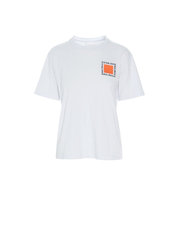Kris Logo T-Shirt - White/ Orange