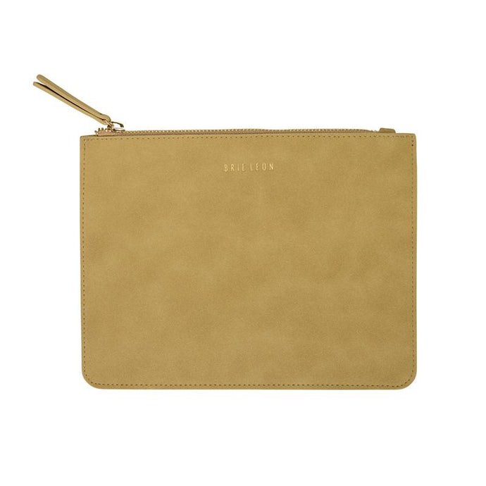 Zip Pouch - Moss Suede
