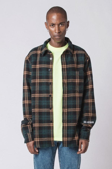 One Pocket Shirt - green chess