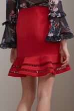 indulge skirt - red